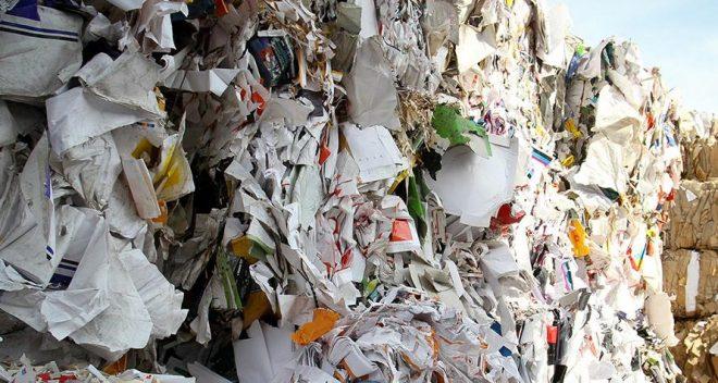 Piles of trash at a dump