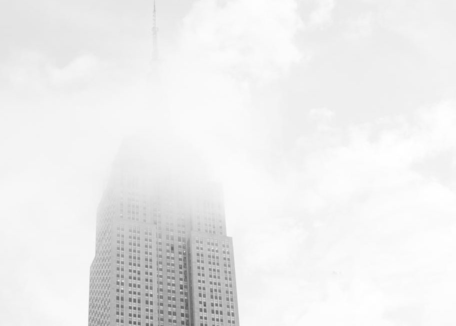 Smog covering a city building
